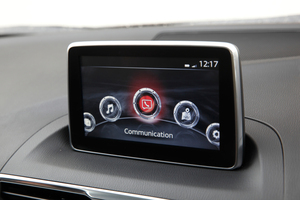 The Mazda3's new information screen called MZD Connect.