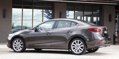 The Mazda3 sedan that is priced from $32,795 for the entry level GLX .