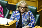 Justice Minister Judith Collins responding to queries over her relationship with Oravida during question time in Parliament. Photo / NZ Herald