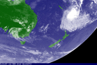 An image showing cyclone Lusi bearing down on New Zealand. Photo / Japan Meteorological Agency