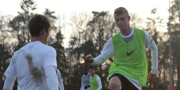 Dylan Burns (NZ) one of five selected for Nike Academy in the UK SUPPLIED 14th March 2014.