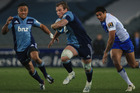 Luke Braid of the Blues breaks away during the round 17 Super Rugby match between the Blues and the Force. Photo / Getty Images