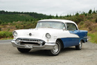 The '55 Oldsmobile with its pillarless side windows. Pictures / Jacqui Madelin