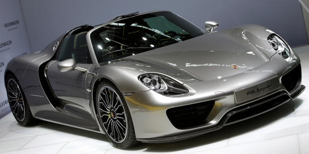 A Porsche 918 Spider. Photo / AP