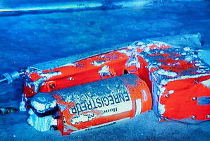 This file photo shows the flight data recorder from the 2009 Air France flight that went down in the mid-Atlantic.