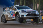 Volkswagen team driver Sebastien Ogier and co-driver Julien Ingrassi, both of France, during Rally Mexico, the third rally in the WRC season. Photo / AP