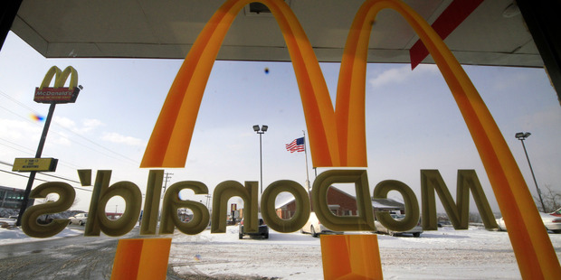 McDonald's is being sued in three US states by workers who say the fast-food giant is effectively 'stealing wages' through a variety of employment practices. Photo / AP