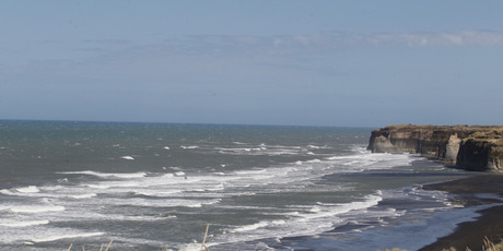 Coast off Patea were seabed iron sand mining may take place. Photo / APN