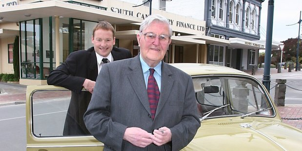 Former South Canterbury Finance CEO Lachie McLeod and deceased financier Allan Hubbard. File photo