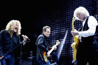 Led Zeppelin's Robert Plant, John Paul Jones and Jimmy Page on stage at their 2007 reunion show.
