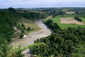 The disputed land is near the bank of Taranaki's Waitara River. File photo / NZ Herald