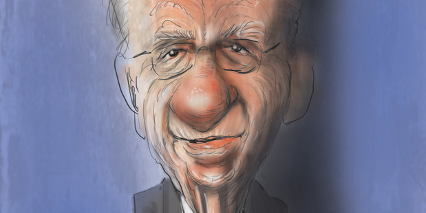 Caricature of Rupert Murdoch by NZ Herald cartoonist Rod Emmerson.