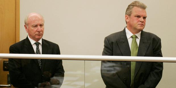 Bridgecorp founder Rod Petricevic, left and Robert Roest. Photo / NZPA - Nigel Marple
