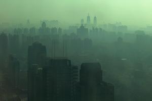 Smog across the Shanghai skyline, China. Photo / Thinkstock
