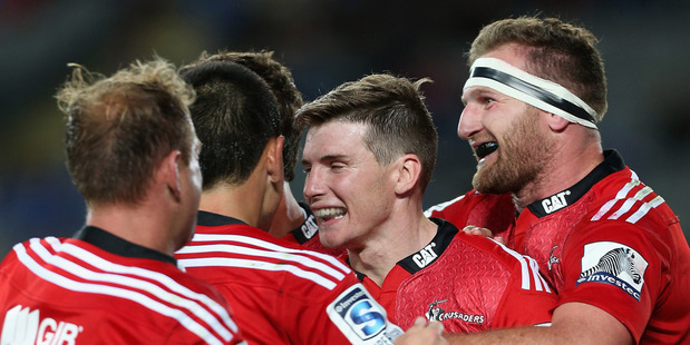 Todd Blackadder has again re-shuffled his Crusaders backline, with Colin Slade the latest candidate for the No10 jersey to play the Rebels in Melbourne. Photo / Getty Images.