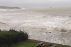 Ex tropical cyclone Lusi hits Coopers Beach. Reader video / Toby Curtis