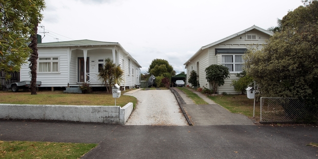 These houses in Pt Chevalier have reportedly been bought  for The Block NZ. Photo / Doug Sherring