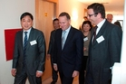 Donghua Liu with PM John Key at the opening of the $70m Newmarket project.
