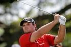Young American Patrick Reed plays a shot during the final round of the WGC in Florida yesterday. Photo / AP