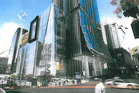 The planned tower between Elliott St, Victoria St and Albert St (artist's impression) will appear like a candle.