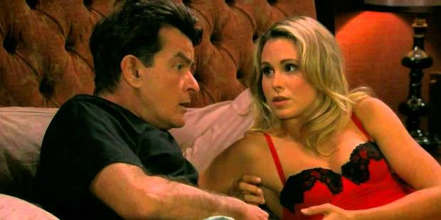Anna Hutchison with Charlie Sheen in Anger Management.