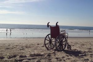Wheelchairhandles give a better grip when pushing a wheelchair. Photo / Wheelchairhandles.com
