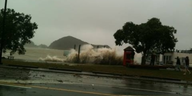 Jo Knight took this photo of the Paihia waterfront close to high tide.
