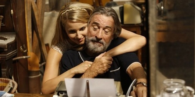 Robert De Niro and Dianna Agron in the family.