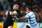 Cory Jane in action during the RWC quarter final against Argentina. Photo / Getty Images