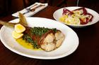 Kingfish tail saltimbocca and radicchio salad at Gusto at the Grand. Photo / Chris Gorman