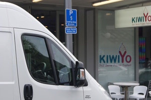 You can park the white Fiat Ducato van loading zones around the city - just don't get caught!