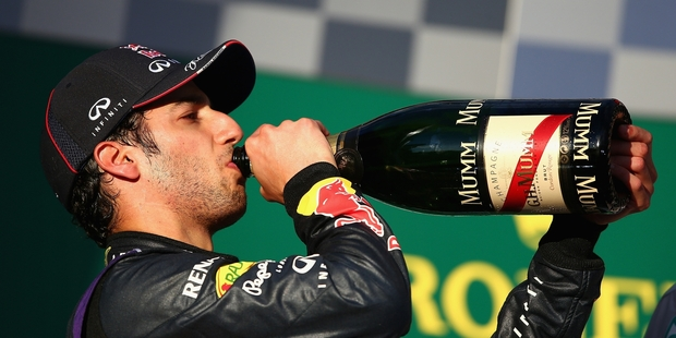 After finishing second on the track, Daniel Ricciardo was disqualified for excessive fuel flow. Photo / Getty Images