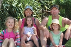 Kelleigh Burkett with daughters Paige, 9, Charli, 5, Holly, 6, and husband Craig.