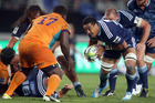 Jerome Kaino prepares to run at Trevor Nyakane of the Cheetahs. Photo / Getty Images