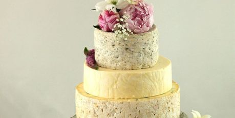 Cheese wedding cakes are a growing trend. Photo / Pinterest