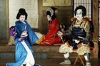 Kabuki - traditional Japanese theatre - is performed these days by male-only casts. Picture / Getty Images