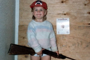 Dad's little fishing and hunting buddy, Samantha Hayes, aged 4.