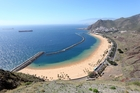 Las Teresitas, one of the lesser-visited beaches on the Canary Islands.