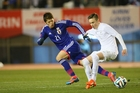 All White Ryan Thomas in action against Japan. Photo / Getty Images.