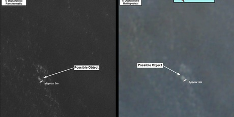 The satellite images of the mystery objects. Photo / AMSA