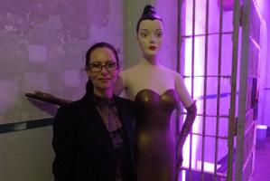 Viva Beauty Editor Janetta Mackay inside Alcatraz for a party thrown by Benefit cosmetics.