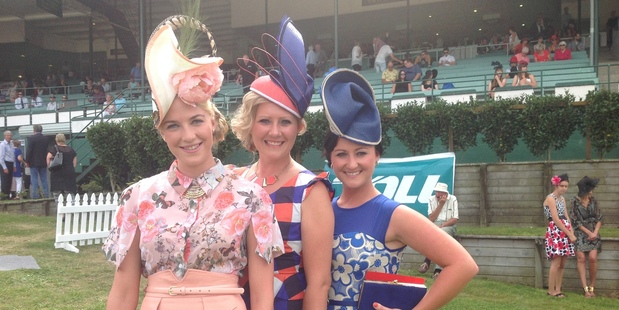 Fashions in the Field competitors (from left), Alisha Maxwell, Nivek Miller and Robyn Brooks.