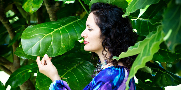 Soraya Hendesi from the Snowberry beauty range, photographed on her plantation. Picture / Babiche Martens.