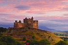 The ancient fortress called the Rock of Cashel towers over Cashel in County Tipperary.