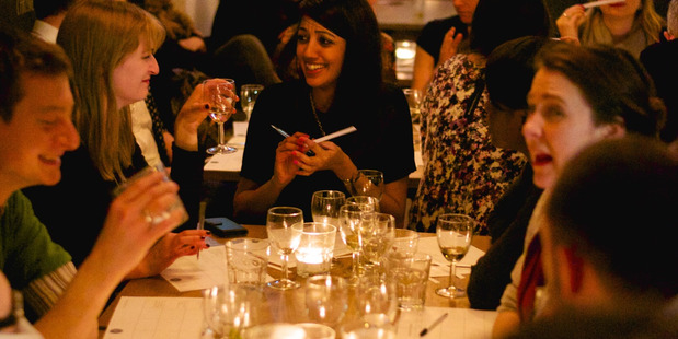 Guests enjoy an evening of Lickable Perfume in London. Photo / Supplied.