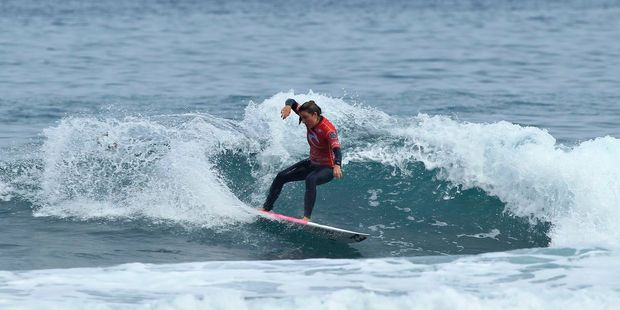 Whangamata surfer Grace Spiers' third win from three events gives her a massive lead on the New Zealand Pro Series rankings.