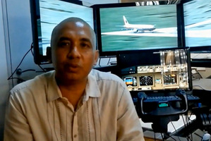 Zaharie Ahmad Shah the pilot of missing Malaysian Airlines Boeing 777 flight MH370. Photo / YouTube
