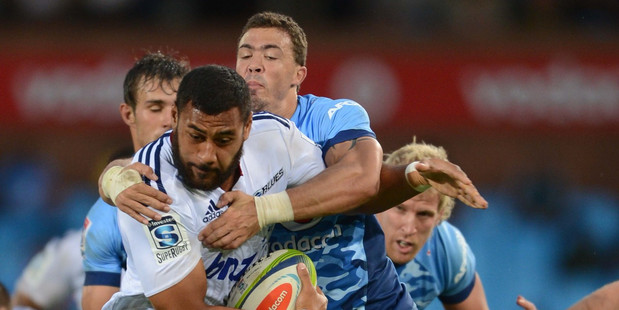 Promising lock Patrick Tuipulotu's knee problem put pressure on the Blues' second row. Photo / Getty Images