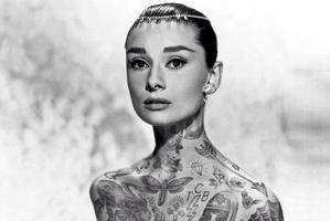 Cheyenne Randall's re-imagined image of Audrey Hepburn.
