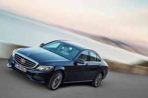 The Mercedes-Benz C-Class, with the Elegance grille, has been launched in Europe.